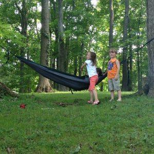 hanging at nana and papaws